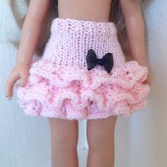 Jupe à volants en tricot pour poupée de 33 cm compatible les chéries, paola