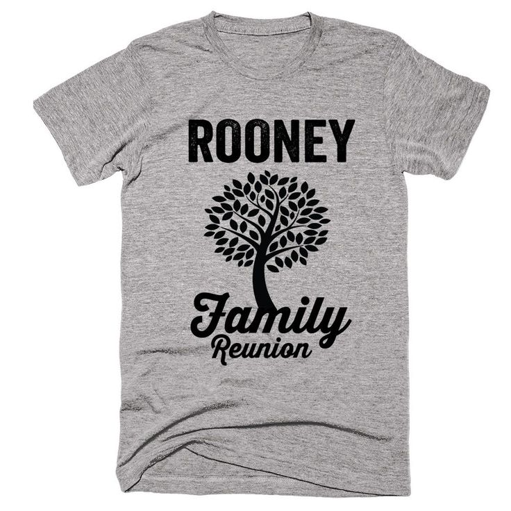 ROONEY Family Name Reunion Gathering Surname T-Shirt