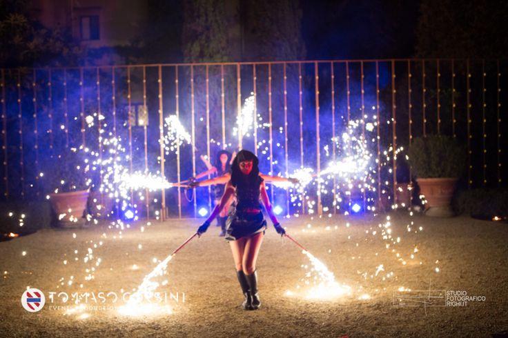 ALMA PROJECT @ Giardino Corsini - Fireshow - Votive Screens - Lighting - Entertainment   TCEP