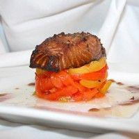 Filet de saumon fumé à chaud aux bleuets sur Wikibouffe