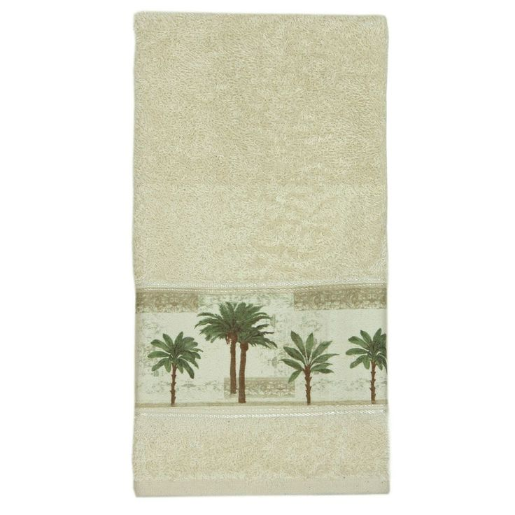 Bacova Citrus Palm Hand Towel, Beig/Green (Beig/Khaki)