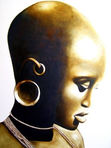 "Saatchi Art Artist Tracey Armstrong; Painting, ""African Lady"" #art"