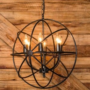 $132 Sphere Chandelier | Vintage Chandelier | Antique Farmhouse