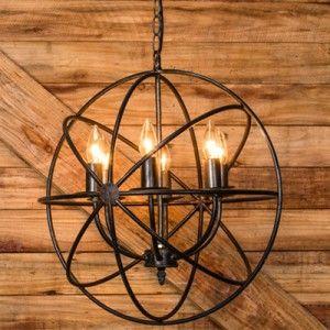 $132 Sphere Chandelier | Vintage Chandelier | Antique Farmhouse                                                                                                                                                                                 More
