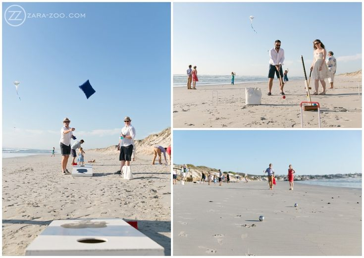 Wedding at #Strandkombuis, #Games to entertain the #guest, #Cornhole, #Boulle, #Croquet