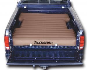 """Truck-bedz Weekender series, the affordable solution, heavy duty PVC vinyl ans 2 stage boat valves.  80"""" long fits most 6.75' Standard Shortbeds including:  Chevy Silverado 1988- current.  Dodge Ram 2003-current.  Ford F250/F350 Series 1989-current.  Ford F150 2004-current.  GMC Denali.  Toyota Tundra 2007-current and other truck models with full width 6.5' to 6.75' beds. Features:  Airpump.  90 Day manufacturer warranty."""