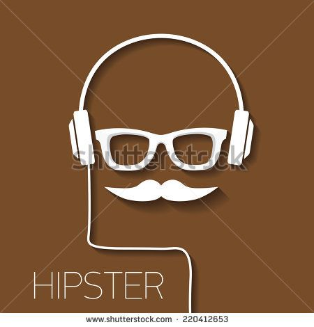 hipster man icon. Fashion silhouette hipster style, vector illustration