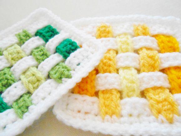 Weave Square - Free Crochet Pattern ༺✿Teresa Restegui http://www.pinterest.com/teretegui/✿༻