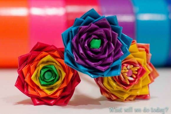 Duct Tape Flower Pencils