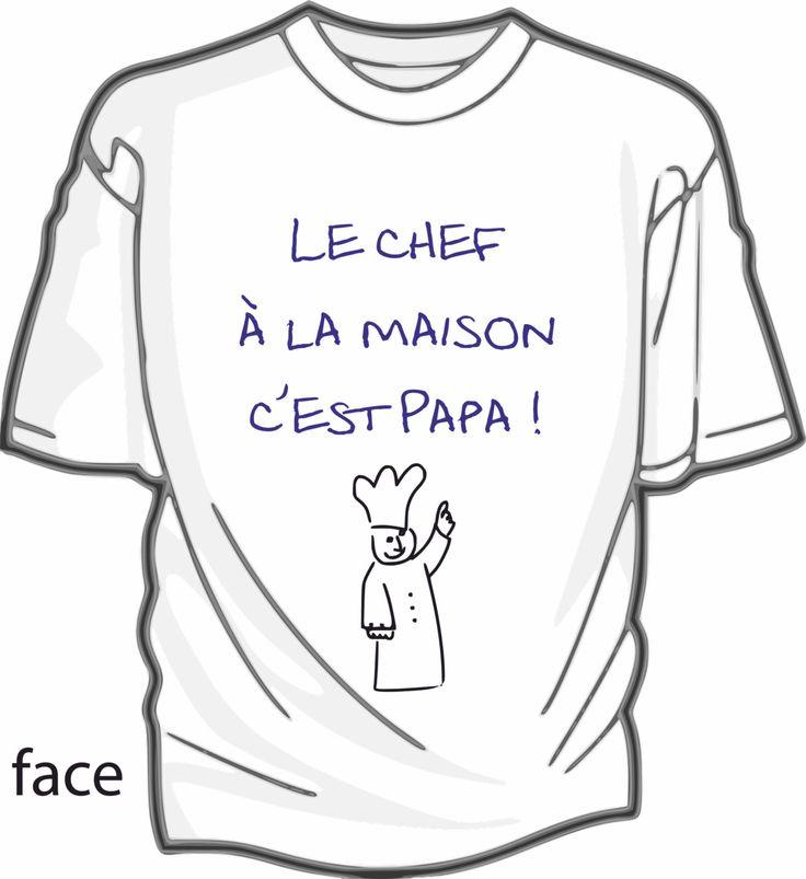 Le chef c'est papa - tee-shirt enfant coton