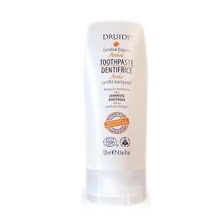 Druide Natural Organic Toothpaste: No burning or unpleasant taste after brushing. Protects and strengthens your teeth and gums with daily oral hygiene that includes a suitable natural good tasting toothpaste. DRUIDE certified organic toothpastes are 100% natural. NO FLUORIDE: Free from sulfates, no Xylitol. No nanoparticule. Reduce causes of staining and eliminates the buildup of plaque while strengthening gums with easily-assimilated calcium.
