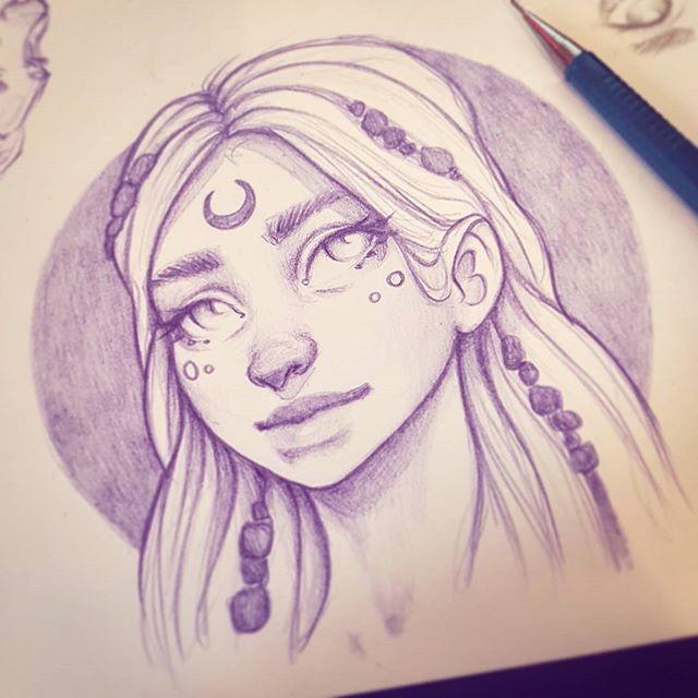 New coloured pencil drawing :-) #drawing  #sketchbook #art #instaart #artofinstagram #portrait #face #improvement #photoshop #painting #progress #pencildrawing