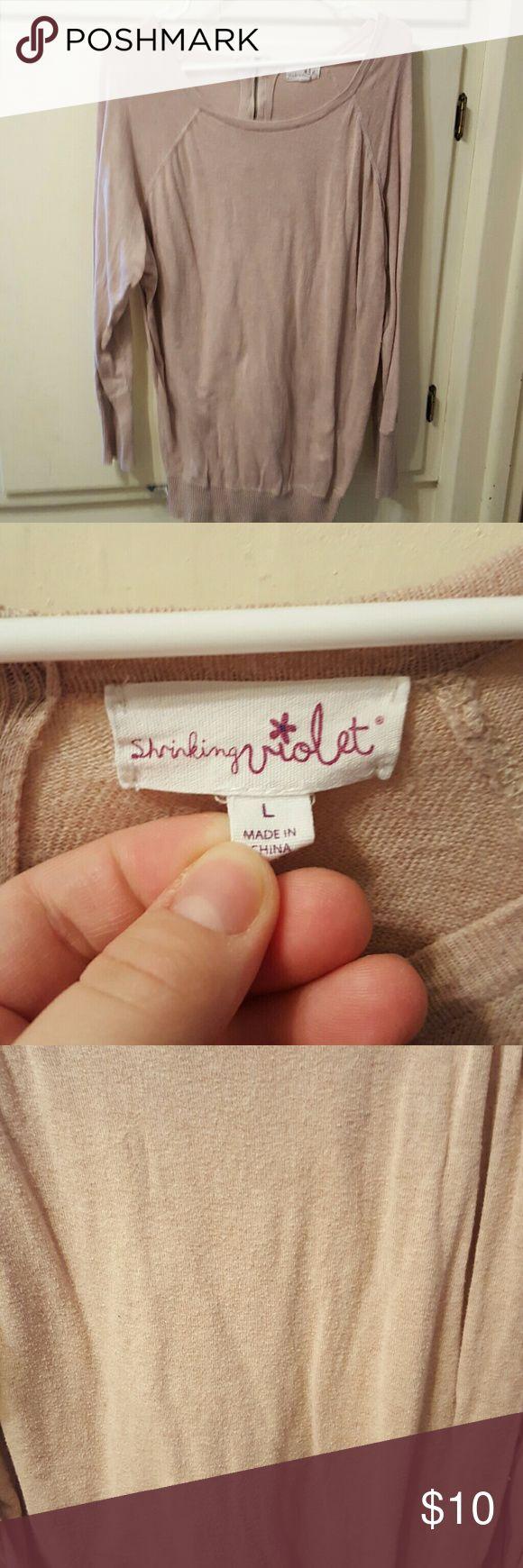 pink nudes shirt very cute some peeling shown shrinking violet  Tops Sweatshirts & Hoodies