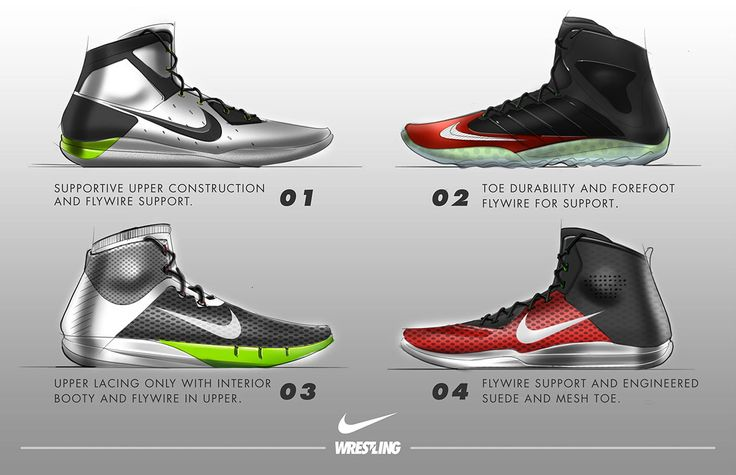 Nike Shootweep is the first wrestling shoe with Flywire support system. Wrestling now has a rule that prohibits the use of medical tape being used for support. Flywire is a key innovation in Nike wrestling footwear. I was challenged to design a new shoe…