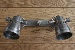 Double pewter spotlight, Industrial wall lights, Industrial lighting, Contemporary lighting, Holloways of Ludlow  £190