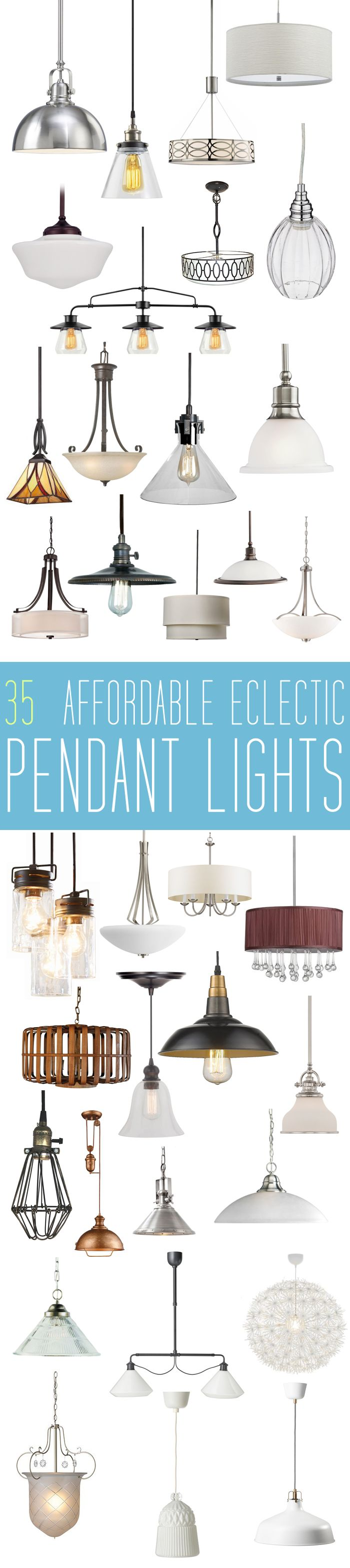 eclectic lighting fixtures. 35 Eclectic Affordable Pendant Lights - The Cottage Market Lighting Fixtures A