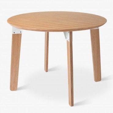 Gus* Modern Sudbury Round Oak Dining Table