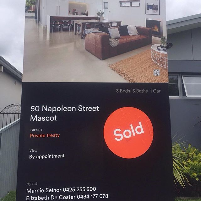 Last sale for 2016! 50 Napoleon Street  sold right on the close of the year for a great result all round! #marnieseinor #mcgraths #mcgrathsmaroubra #mascot #sydneyproperty #sydneyrealestate #Property #house #home