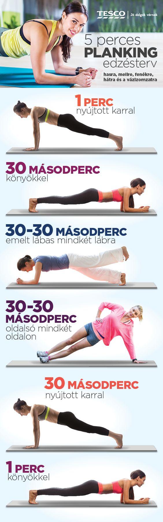 Néhány egyszerű gyakorlat és sziklaszilárd izomzatra és tartásra tehetsz szert. Dobd a sutba a lustaságodat és próbáld ki még ma! :) #planking #sport #egeszseg #fitness