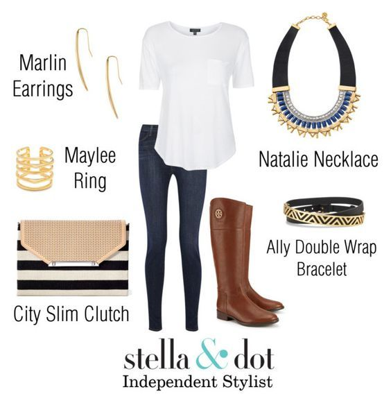 Simple, casual, and awesome boots! I have those Stella & Dot earrings and wear them all the time! #stelladotstyle