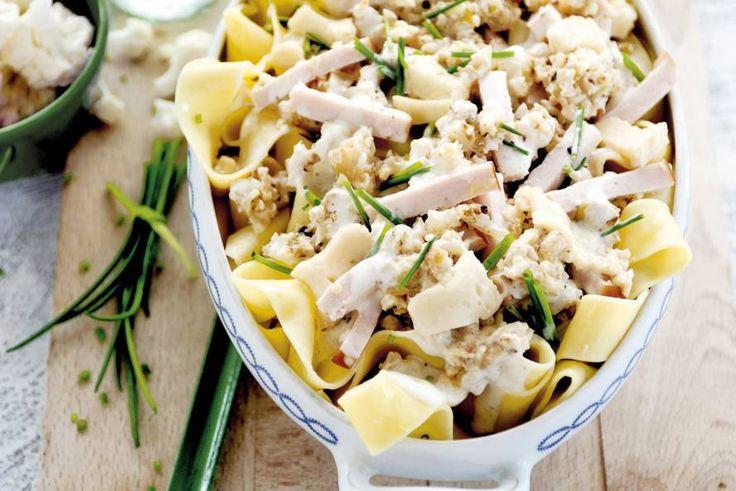 19 september - Bloemkool in de bonus - De grofgemalen bloemkool geeft de romige pastasaus een lekkere bite - Recept - Allerhande