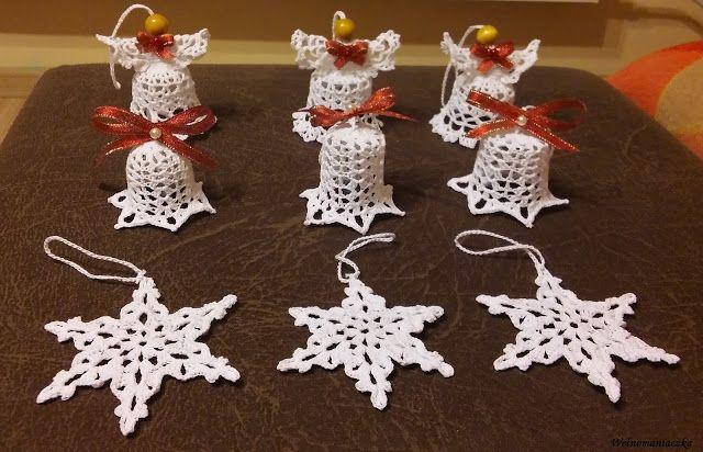 Wełnomaniaczka: Szydełkowe ozdoby na Boże Narodzenie