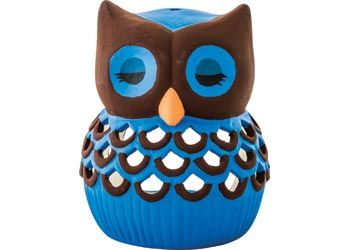 Ceramic Owl Tealight holder to paint any colour you like