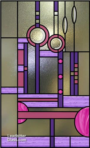 Charles Rene Mackintosh Rose - Stained glass adaptation