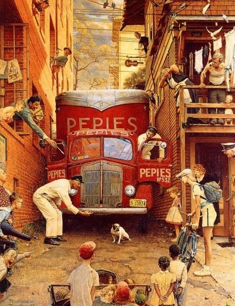 1949 Norman Rockwell painting…