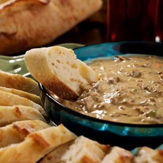 My Philly Cheesesteak Dip is perfect for watching the game! Grab your friends and enjoy!