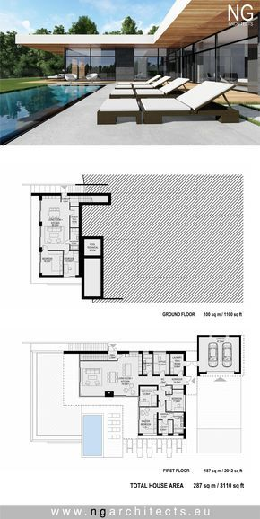 Modern House Plan Villa In Bjared Sweden Design By Ng Architects