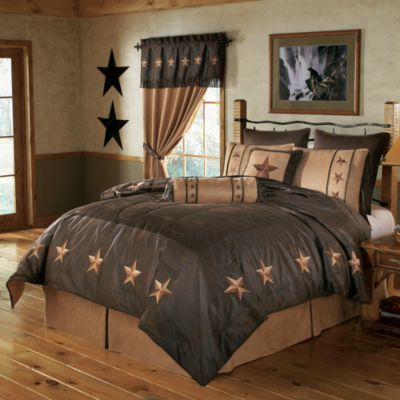 "Set includes: comforter, bed skirt, two standard shams (twin includes one), one pillow (19"" x 19"") and one neck roll (8"" x 21"").  Sizes:  Twin, Full, Queen, Super King.  Colors:  Tan, B"