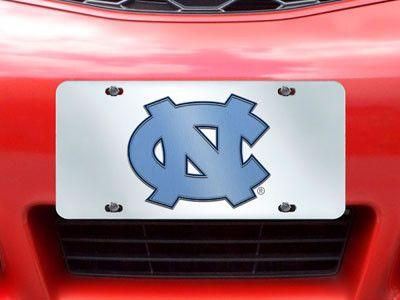 "UNC University of North Carolina license plate inlaid 6""x12"""