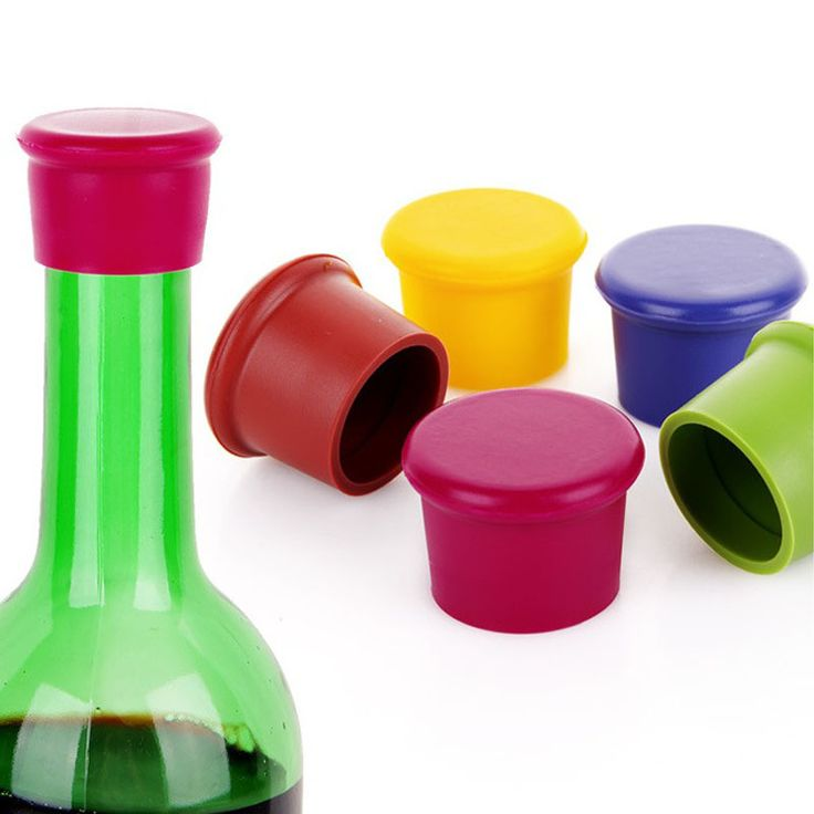 500pcs Wholesale Silicone Wine Stoppers Leak Free Wine Bottle Sealers For Red Wine And Beer Bottle Cap  Kitchen Tool ZA1113