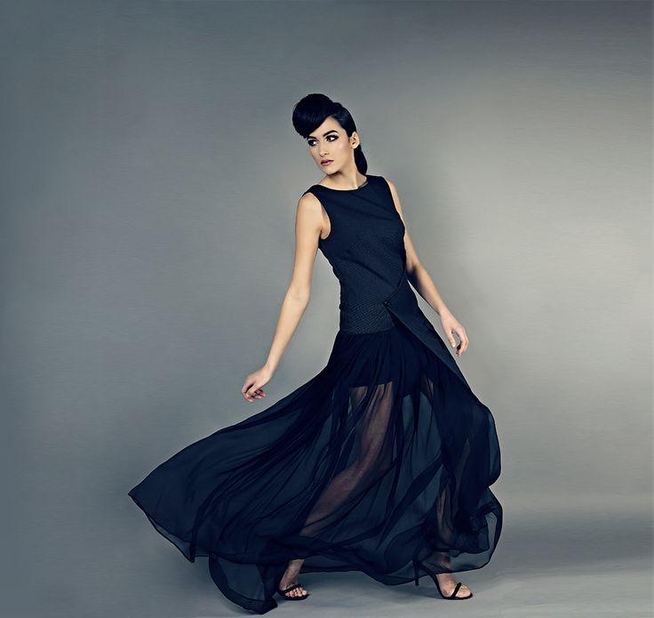 gentle austerity   rochie voal   atelier designer