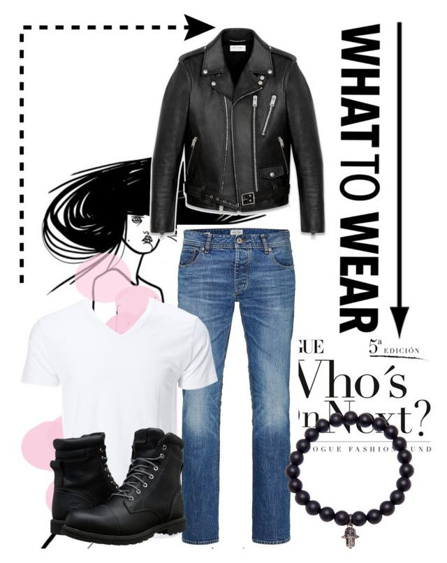 """Greasers"" by akansha125 on Polyvore featuring Yves Saint Laurent, Jack & Jones, Timberland, men's fashion and menswear"