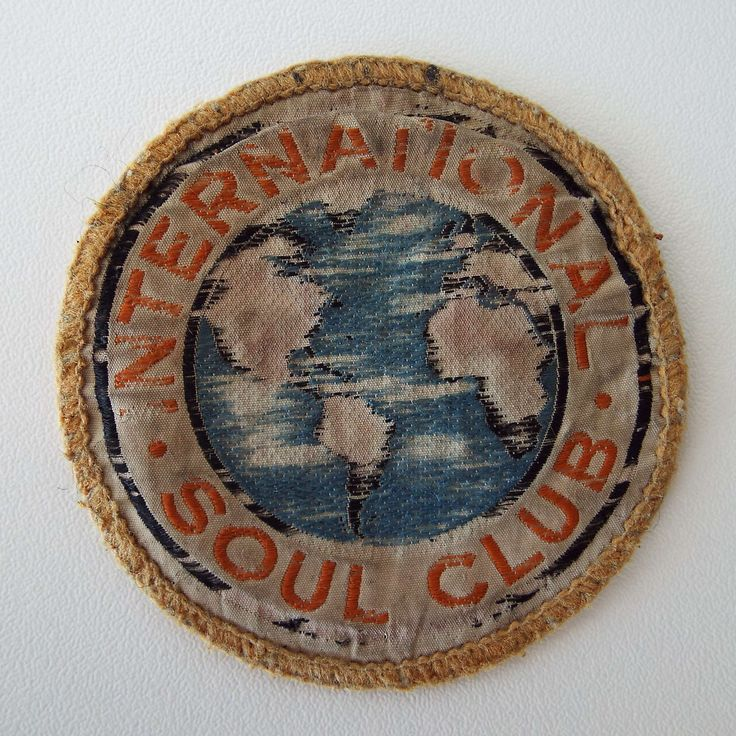 Excited to share the latest addition to my #etsy shop: Vintage 1970's Original International Soul Club Embroidered Patch Music Accessories Retro http://etsy.me/2Flp6ac #accessories #patch #internationalsoul #soulclubpatch #1970spatch #retro #vintage #pin #badge