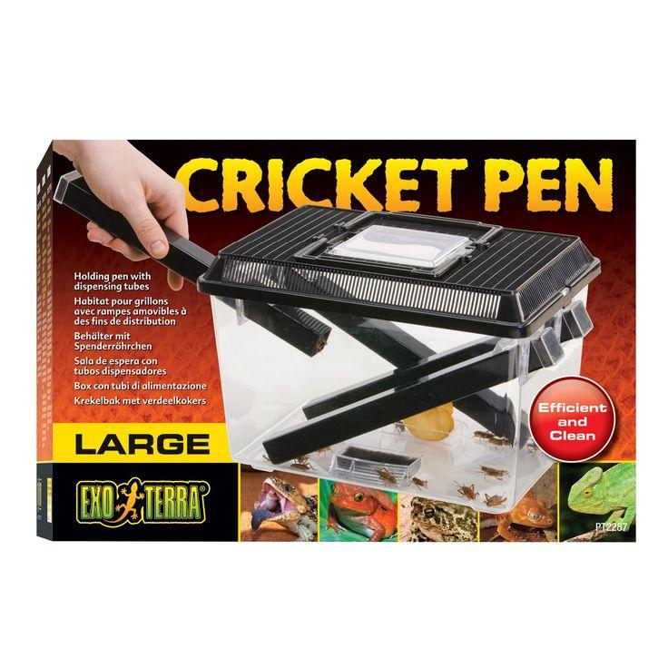 Exo-Terra Cricket Pen - Exo Terra Cricket Pen with Dispensing Tubes - http://www.petco.com/shop/en/petcostore/product/exo-terra-cricket-pen