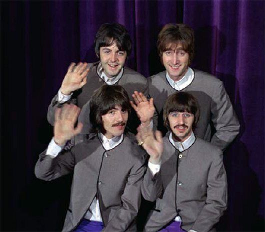 Promotional films for 'Hello Goodbye' were shot at London's Saville Theatre on 10 November 1967; the single went on to top the charts in both the UK and US.