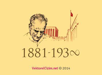 Vektörel Çizim | Atatürk Silüeti, Anıtkabir