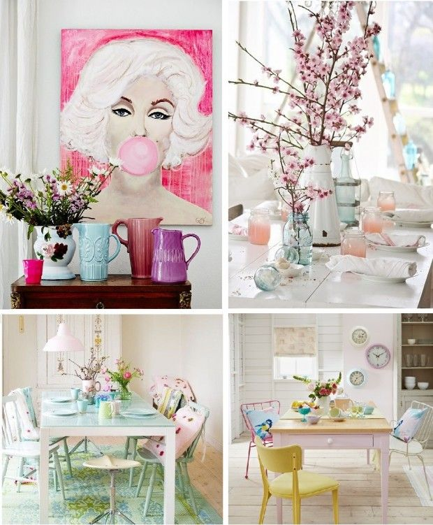 Wiosna w pastelowej szacie styl #vintage #aranżacje #inspiracje #design