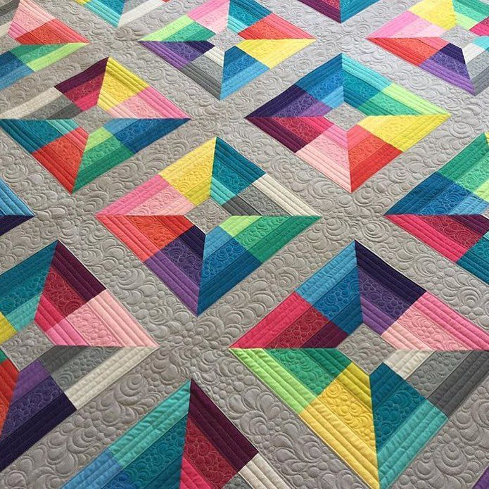 beautiful modern Quilt made from only solids