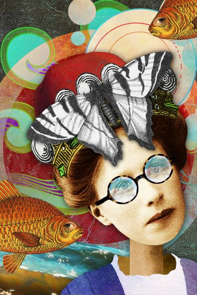 Daydream Believer, a digital altered art card by The Persnickety Chick Copyright Amber R. Tabangay 2014