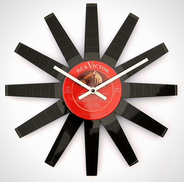 15 rockin projects that repurpose vinyl records front shot finished vinyl record