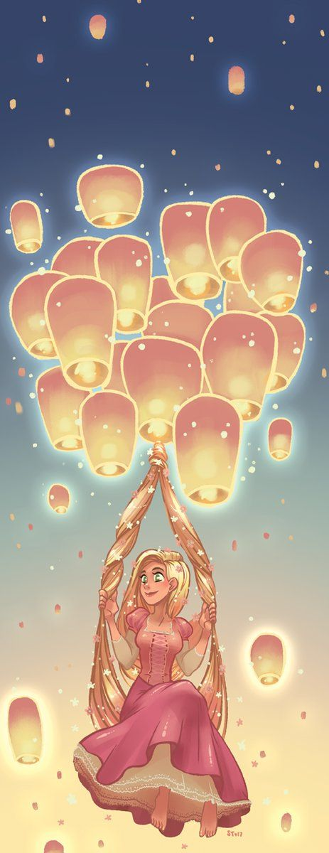 Tangled, Rapunzel and the floating lanterns