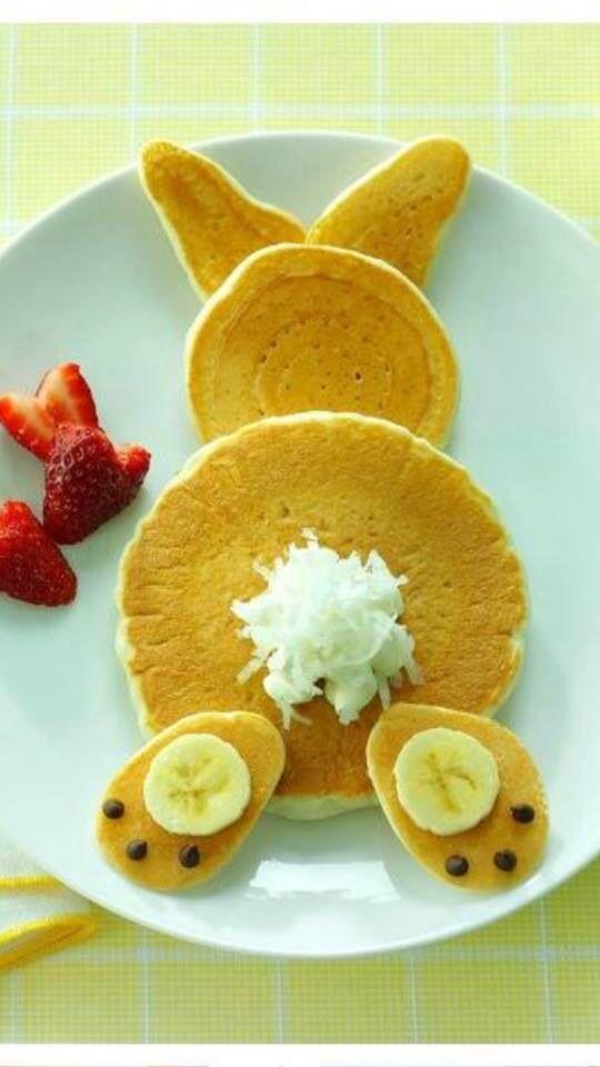 Cuteness. Easter bunny butt pancakes.