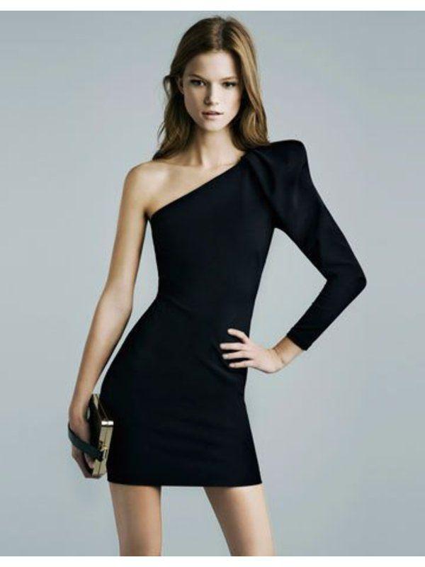 Платье с одним рукавом как называется