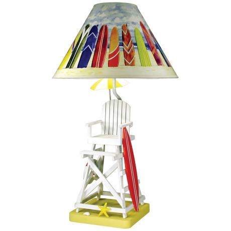 for a cottage on the water paul brent lifeguard chair table lamp. Black Bedroom Furniture Sets. Home Design Ideas