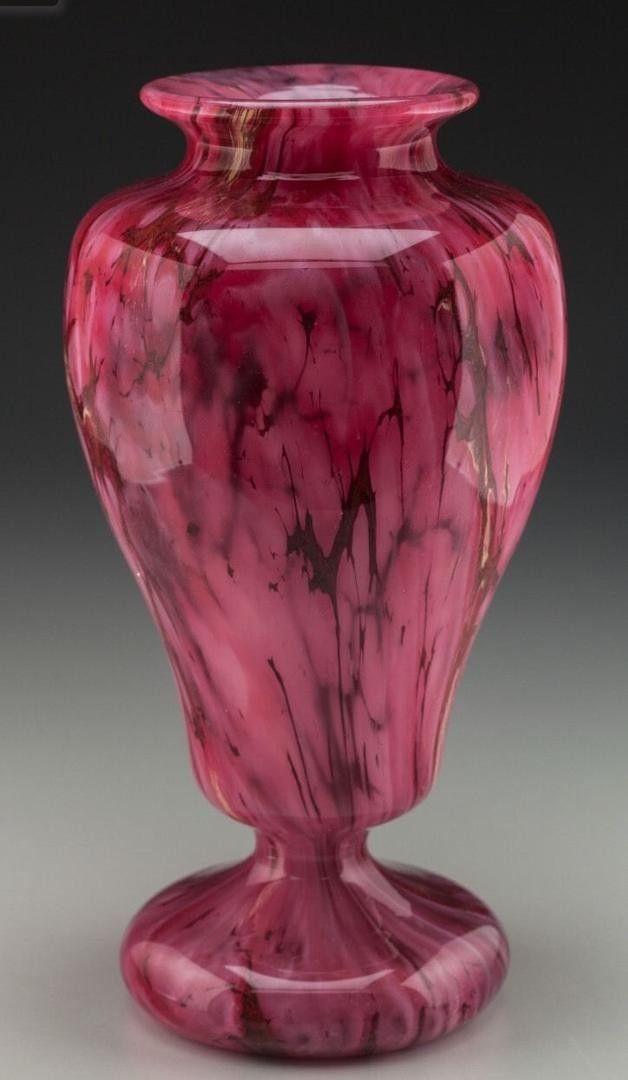 Charles Schneider Le Verre Francais Art Deco Veriegated Vase Ca 1925 1872819210 Art Deco Vases Vintage Art Glass Art Glass Bowl