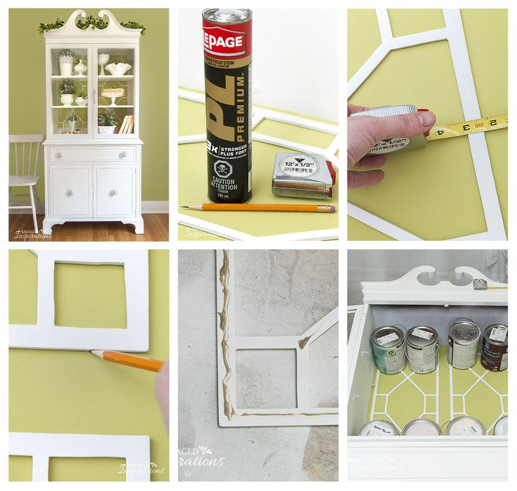 An Easy Way To Repurpose Fretwork. This Turns A Dated China Cabinet Into An  Updated · Furniture RepairFurniture ...
